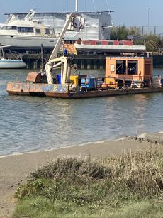 Road Transportable Pontoon with cherry picker and hiab