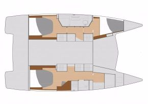 Manufacturer Provided Image: Manufacturer Provided Image: Fountaine Pajot Lucia 40 Cabin Layout Plan
