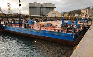 """""""Bargain"""" 36mX20m Flat Top Barge For Sale"""