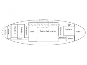 Barge Conversion live aboard barge with pool - Layout Plan