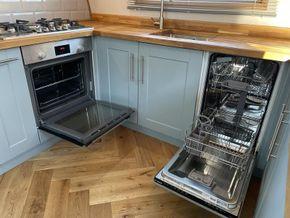 Integrated Bosch oven and slimline dishwasher