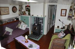 Spacious lounge looking forward from Galley