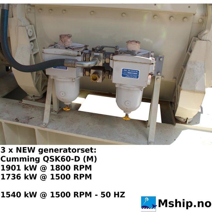 3 x NEW Cummins QSK60-D (M) generatorset