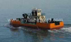 19 Meter Multicat type workboat 20t/m Twin Screw  Knuckle Boom Crane