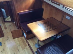 Kitchen table can drop for double berth