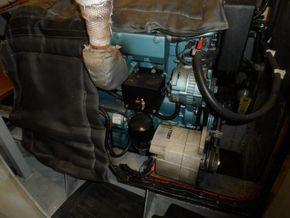 Engine showing alternators