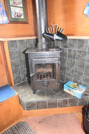 Stove with back boiler