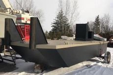 New 23′ x 8'6 Steel Work Barge w/push knees, spud pockets, console