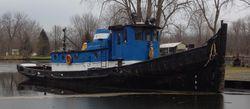64′ x 18′  1100 hp Tug with Retractable Wheelhouse - NEW PRICE!