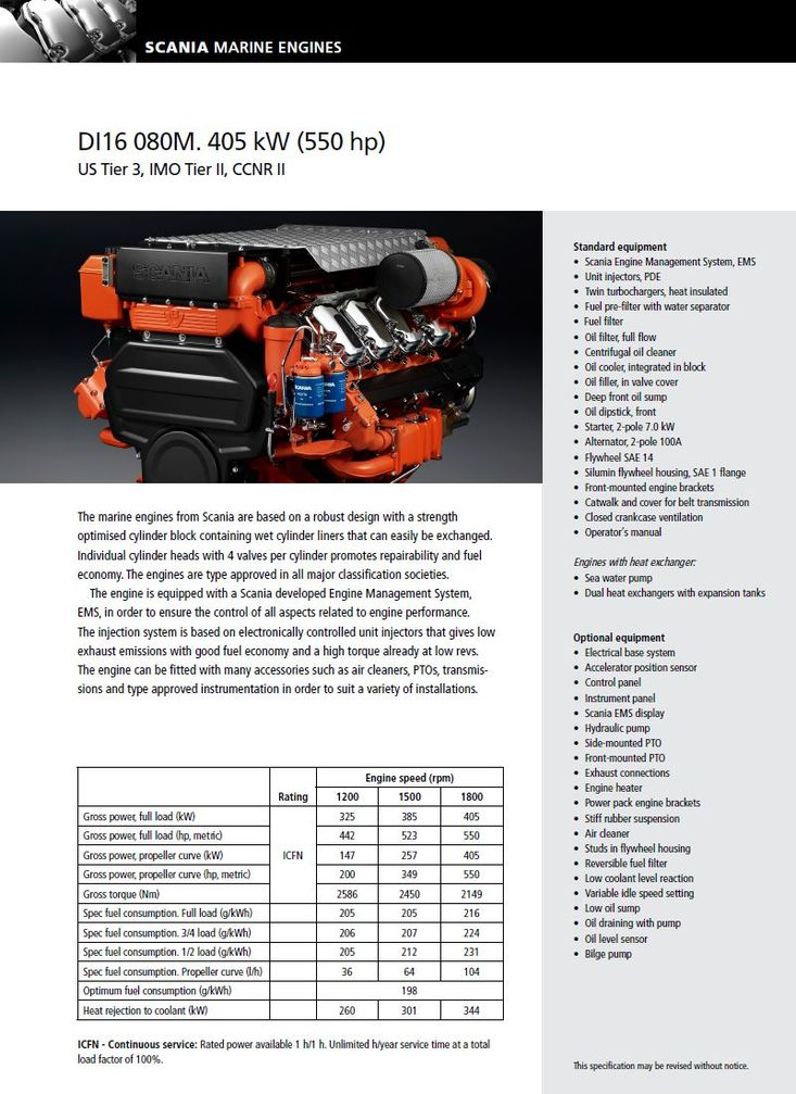 900 HP SCANIA D16 NEW MARINE ENGINES