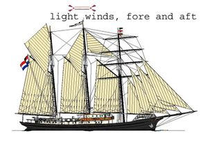 light winds, fore and aft