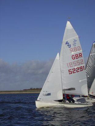 420 sail no: GBR 52291