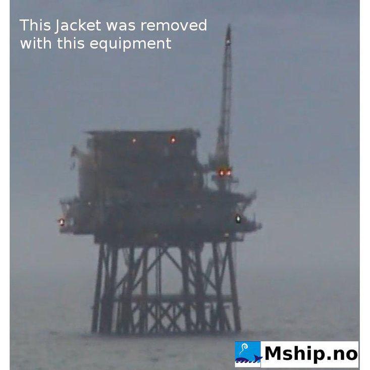 Plattform Jacket decomissioning equipment