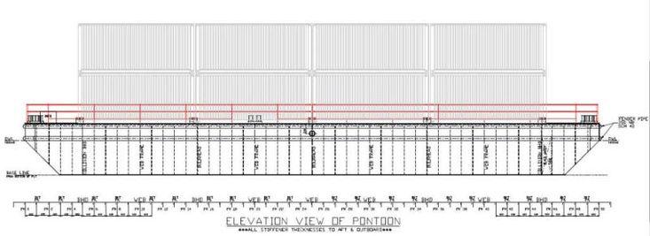 2015 30m x 11m flat top deck PONTOON BARGE