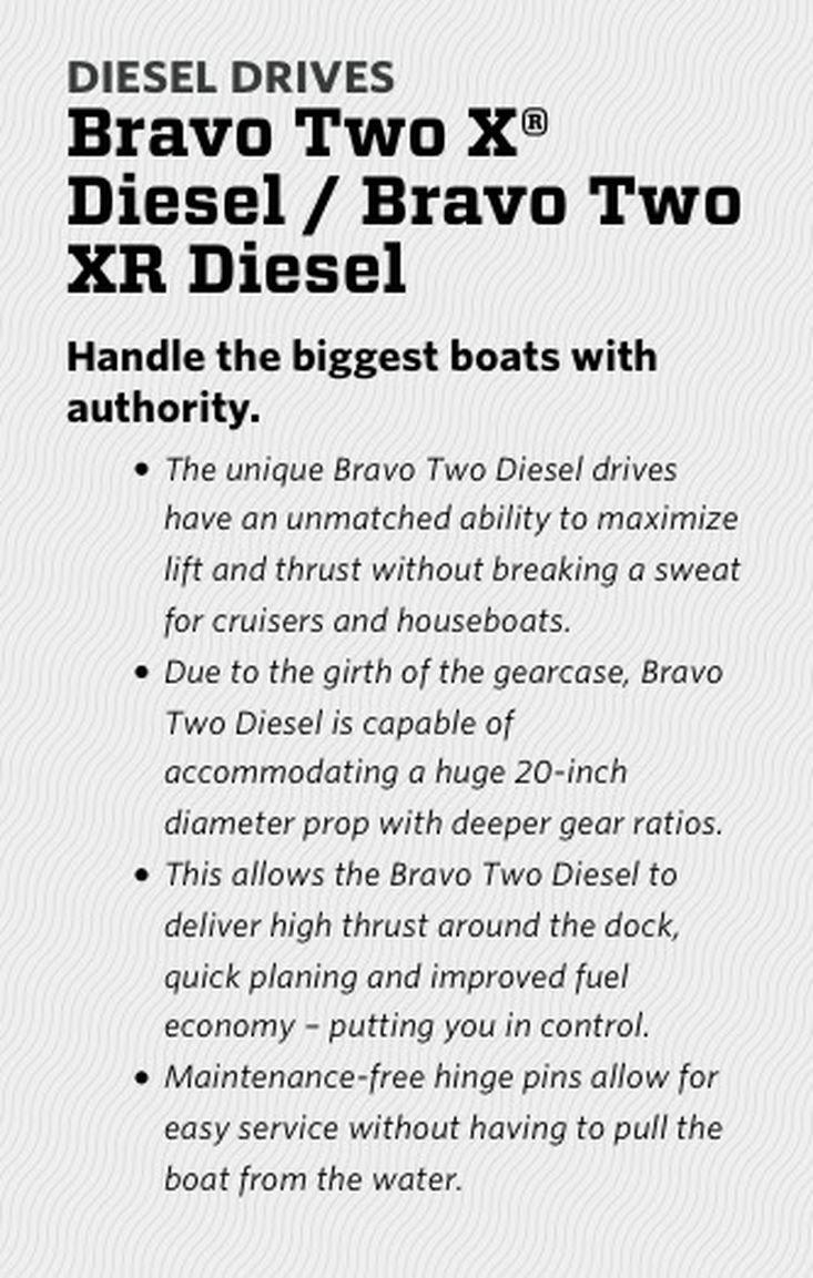Mercury Diesel Drives Bravo Two X Diesel / Bravo Two XR Diesel