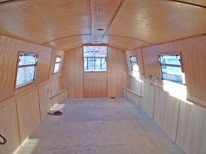 Towards stern (galley)