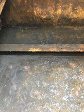 Inside Hull under floor