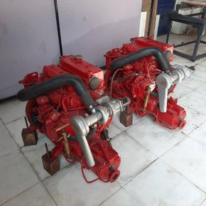 bukh DV 48 boat engines pair from ships lifeboat