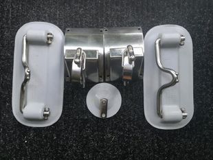 Weaver Stainless Steel Snap Davits &Pads