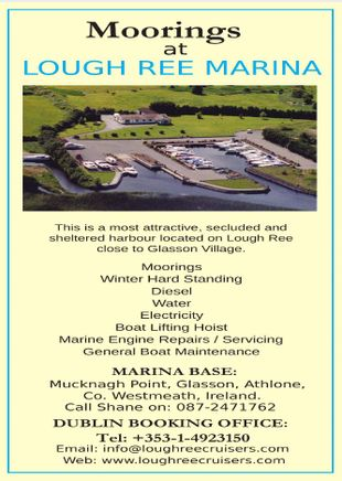 Moorings at Lough Ree Marina  on The River Shannon