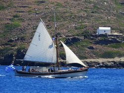 Traditional Greek sailboat