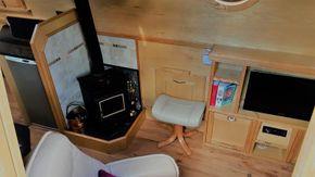TV, radio, CD player  & bookcase
