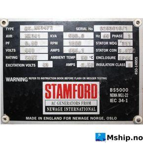 Generator end typeStamford HMC 534.F2,