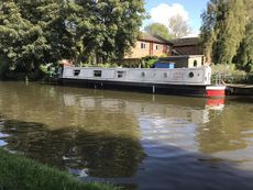 Narrowboat Issy moored Lancaster canal