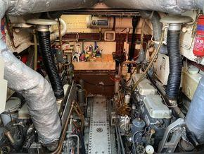 Engine room viewed looking forward