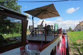 Barge Dutch live aboard boat - Deck