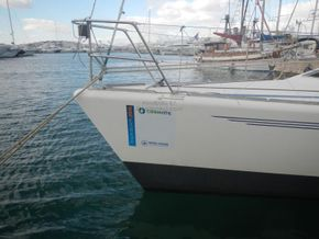 IMX -38 Racing yacht with Aft cabin - Bow