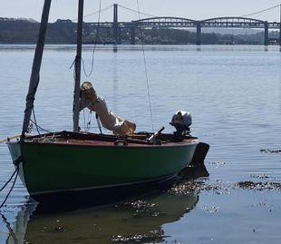 1960 Wooden Wayfarer sail number 161