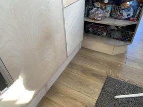 Custom plywood kitchen doors