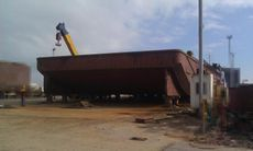 NEW TURKISH FLAT TOP BARGE 61M X 16M