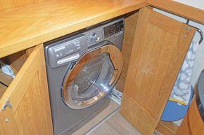 Washer dryer in bathroom