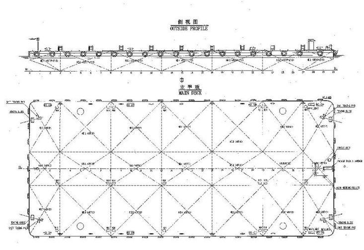 180ft Ballastable Deck Barges