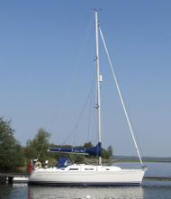 Rare lifting keel version of Hanse 34'