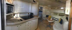 Saloon and galley (Panoramic)
