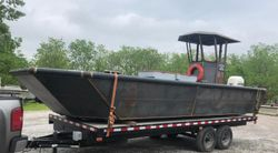 New 24'6″ x 9′ Steel Work Boat w/ Wheelhouse - Built to Order