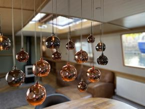 Feature lighting helps define spaces