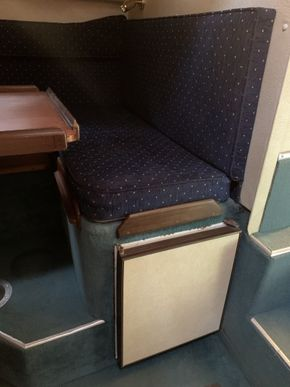 Fridge under dinette seating