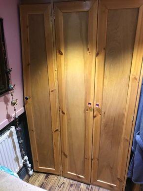 Full size wardrobe in bedroom