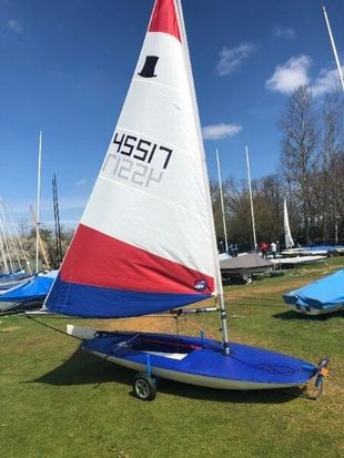 Topper Sailing dinghy (sail no 45517)