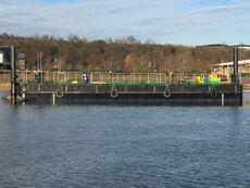 24.95m Pontoon Dumb Barge with 19m Spud Legs.