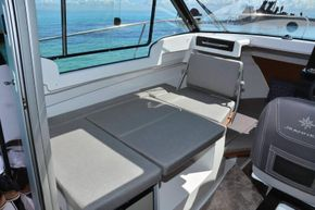 Jeanneau Merry Fisher 695 - wheelhouse saloon converts to double berth