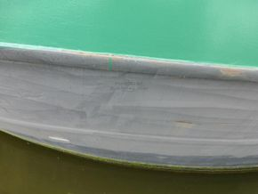 French & Peel 24m Widebeam  - Hull Close Up