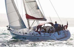 This yacht under sail