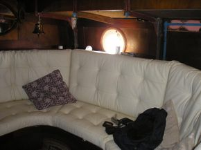 White Leather Saloon Cushions