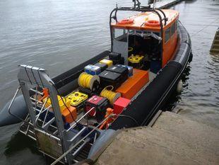 12m Cabin Rib twin inboards RNLI prototype