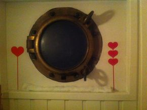 Brass portholes open throughout
